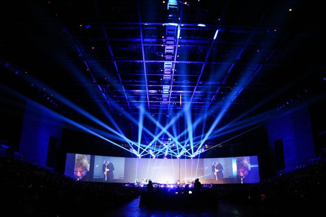 Künstler Performance bei der Raiffeisenbank Gala