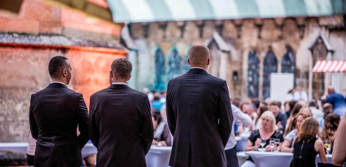 Security Mitarbeiter beim SWR REWAG Betriebsfest