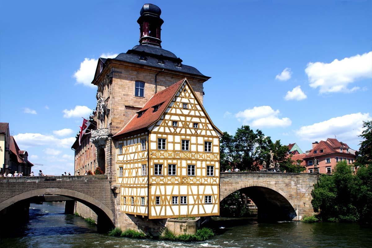 Die Altstadtbrücke in Bamberg